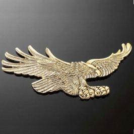 Highway-Hawk emblém samolepící,  EAGLE 155x70mm (orel), mosaz