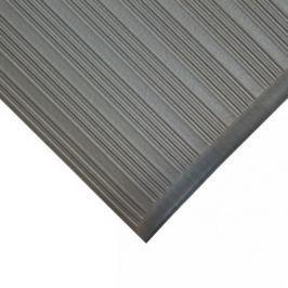 Šedá gumová protiskluzová protiúnavová průmyslová rohož - 90 x 60 x 0,9 cm