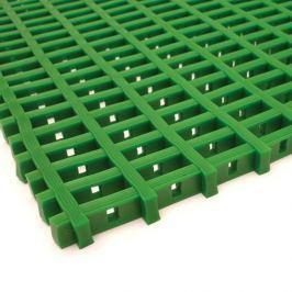 Zelená olejivzdorná protiskluzová průmyslová univerzální rohož - 500 x 60 x 1,2 cm