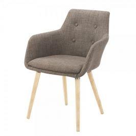 Danish Style Židle s područkami Burg (SET 2 ks), šedozelená Jídelní židle
