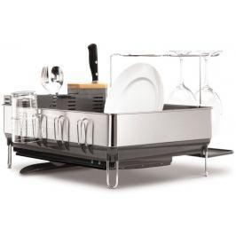 Simplehuman Odkapávač na nádobí, ocel/černá Organizace v kuchyni