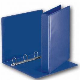 Pořadač 4-kroužkový prezentační s přední kapsou 5,1 cm modrý Pořadače