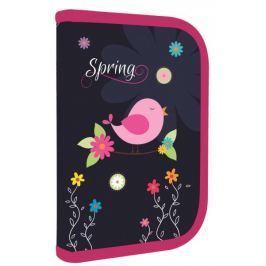 Karton P+P Penál 1 patrový 2 klopy Premium Spring Penály, peněženky