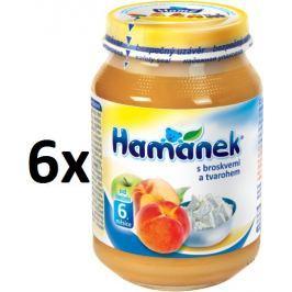Hamánek S broskvemi a tvarohem 6x190g Příkrmy kojenců