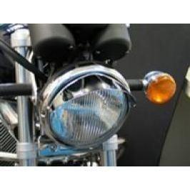 Highway-Hawk štítek pro hlavní světlo motocyklu, d=180mm, chrom (1ks)