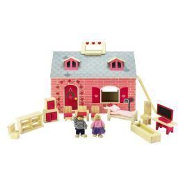 Marionette Domeček pro panenky 19 součástí, dřevěný