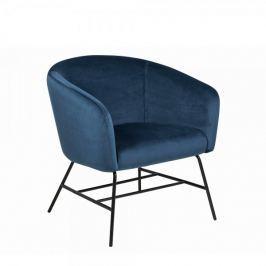Design Scandinavia Křeslo s kovovou podnoží Rosina, navy blue