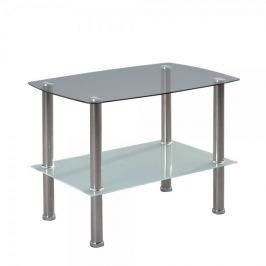 Artenat Odkládací stolek skleněný Zoom, 65 cm, čiré/pískované sklo