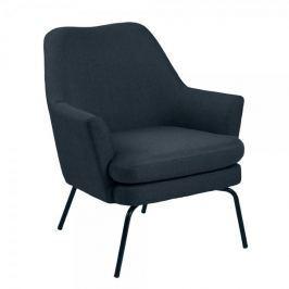 Design Scandinavia Relaxační křeslo Rika, tmavě modrá