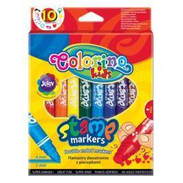 Popisovač Colorino s razítkem, 10 barev