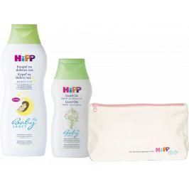 """HiPP HiPP Babysanft Pěna do koupele """"Na dobrou noc"""" 350ml + Jemný šampon 200ml + Kosmetická taštička"""