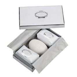 Castelbel Dárková sada tří luxusních mýdel White & Silver 3 x 150 g