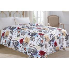 Jahu my House Přehoz přes postel Hodiny 140x220 cm