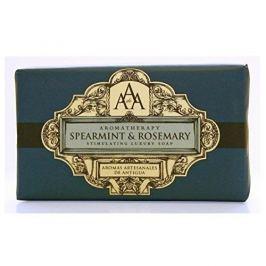 Somerset Toiletry Luxusní tuhé mýdlo v ozdobném papíru Máta a rozmarýn (Spearmint & Rosemary Stimulating Luxury Soap)