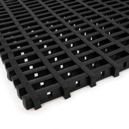 Černá olejivzdorná protiskluzová průmyslová univerzální rohož - 1000 x 120 x 1,2 cm