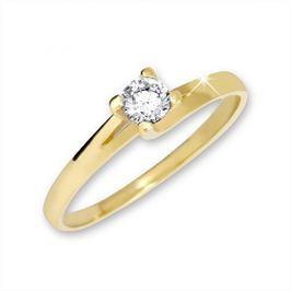 Brilio Zlatý zásnubní prsten 223 001 00090 - 1,80 g (Obvod 51 mm) zlato žluté 585/1000