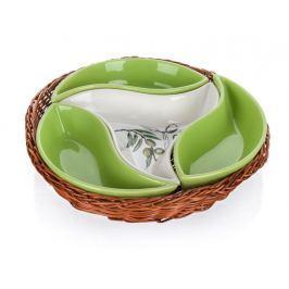 Banquet Mísa v košíku OLIVES 23 cm, 4 díly