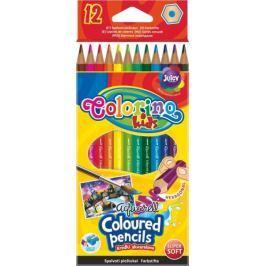 Pastelky aquarelové Colorino 12 barev + štětec