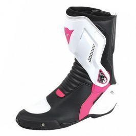 Dainese boty dámské NEXUS LADY vel.38 černá/bílá/růžová, kůže/textil (pár)