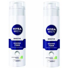 Nivea Men Pěna na holení Sensitive 200 ml 2 ks