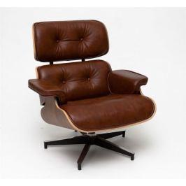 Mørtens Furniture Designové otočné křeslo Easy, hnědá/ořech