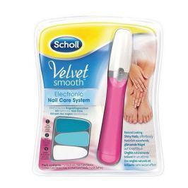 Scholl Elektrický pilník na nehty růžový Velvet Smooth