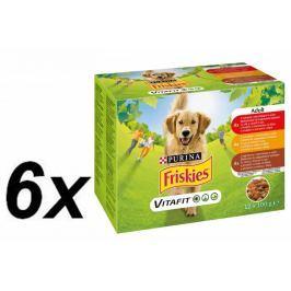 Friskies VitaFit ADULT s hovězím, kuřetem a jehněčím ve šťávě 6x(12x100g)