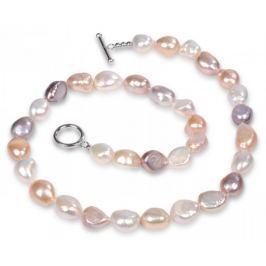 JwL Luxury Pearls Náhrdelník z pravých multibarevných perel JL0160 stříbro 925/1000