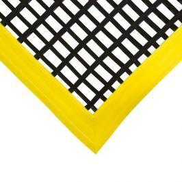 Černá olejivzdorná protiskluzová průmyslová univerzální rohož - 180 x 120 x 1,2 cm