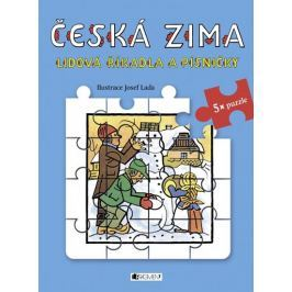 Lada Josef: Česká zima - Lidová říkadla a písničky s puzzle