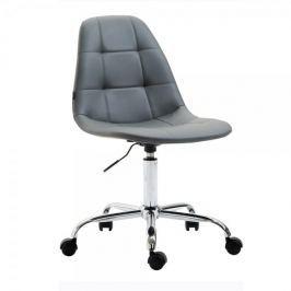 BHM Germany Pracovní židle Rima kůže, šedá