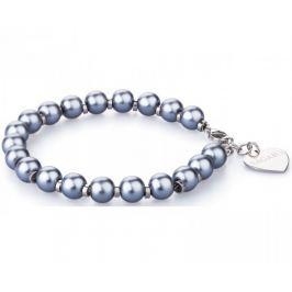 S'Agapõ Náramek s modrými perličkami Happy SHAC5