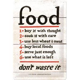 Postershop Plechová cedule Food Rules