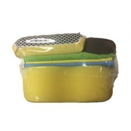 KAJA Sada na mytí auta, 6 ks: 1 x utěrka mikrovlákno, 2 x savá utěrka, 1 x oboustranná houba na sklo, 1x houba na měrky hladiny oleje
