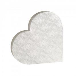 Dárková krabice Lenka 2, stříbrné vlnky - 45x40x6,2 cm