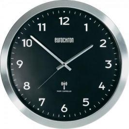 Eurochron Hliníkové nástěnné DCF hodiny EFWU 2601, 38 cm, černá