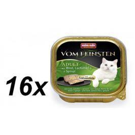 Animonda V.Feinsten CORE hovězí, losos filet + špenát pro kočky 16 x 100g