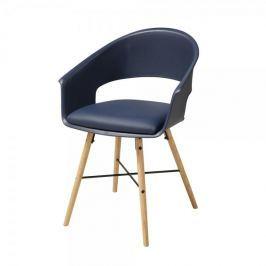 Danish Style Jídelní židle Riva (SET 4 ks), modrá