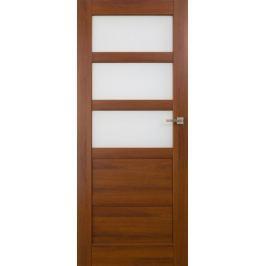 VASCO DOORS Interiérové dveře BRAGA kombinované, model 4, Kaštan, C
