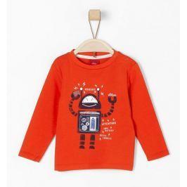 s.Oliver chlapecké tričko s robotem 62 červená