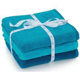 Kela sada 3ks ručníků LADESSA - modrá Osušky, ručníky