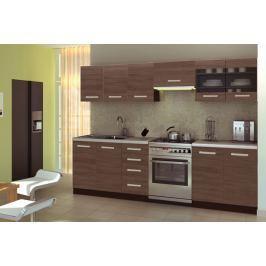 Kuchyně AMANNDA 1, 200/260 cm, ořech viva