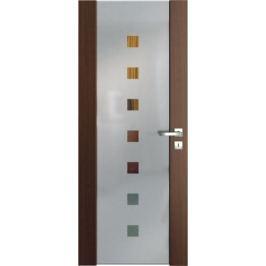 VASCO DOORS Interiérové dveře VENTURA SATINATO kombinované sklo - čtverce, Ořech, A