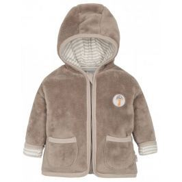 G-mini dětský chlupatý kabátek Sobík hnědá 56