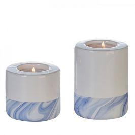 Papillon Čajový svícen porcelánový Blue, 7 cm