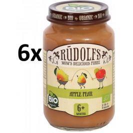 RUDOLFS Dětské ovocné pyré jablko+ hruška - 6x190 g