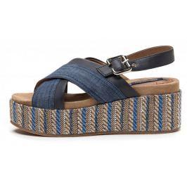 Wrangler dámské sandály Tempura Straw 36 modrá