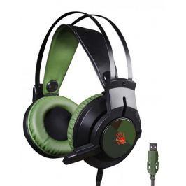 A4Tech J437 herní sluchátka (J437 Green)
