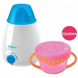 BabyOno Ohřívač lahví elektrický + DÁREK miska s úchyty a víčkem - růžová