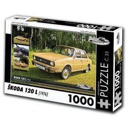 RETRO-AUTA© Puzzle č. 35 - ŠKODA 120 L (1976) 1000 dílků